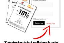 Karty rabatowe dla zarejestrowanych użytkowników serwisu