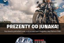 Kup dowolny jednoślad marki Junak, a otrzymasz kask z blendą Junak oraz 5L oleju Platinum Rider