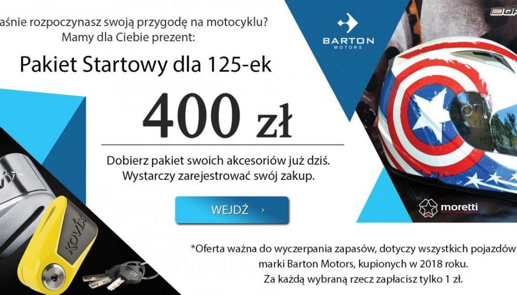 Kup Bartona i dobierz swój pakiet startowy wartości 400zł
