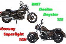 Choppery 125: RMT Daystar vs Keeway Superlight 125