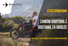 Barton Motors: dostawa za grosze przy zakupie motocykla lub skutera!