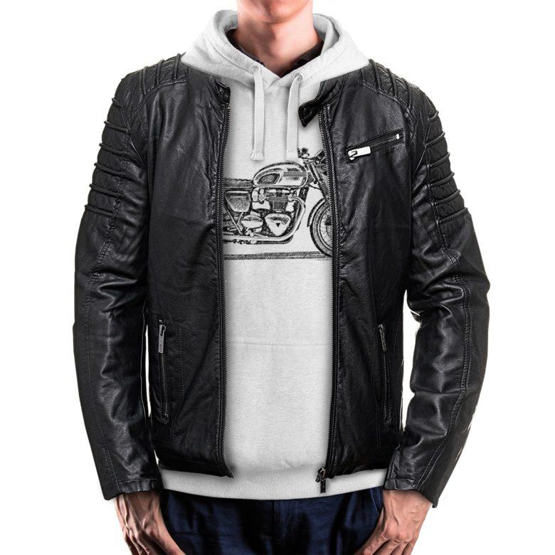 bluza dla motocyklisty z kurtką Triumph Bonneville T120