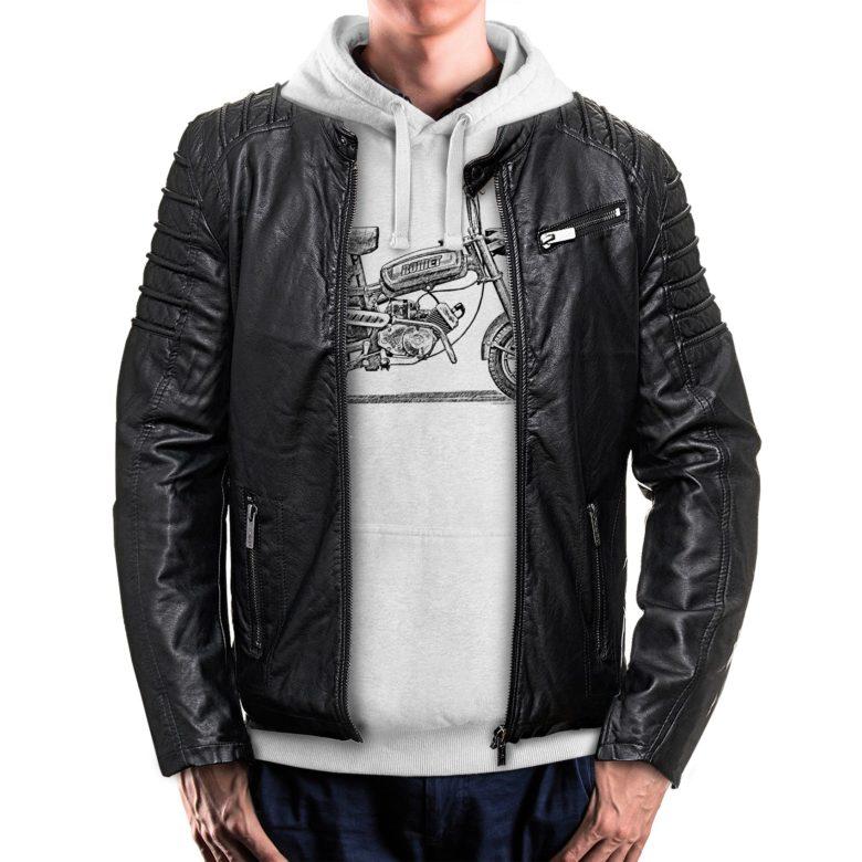bluza dla motocyklisty z kurtką Romet Pony Motorynka PRL