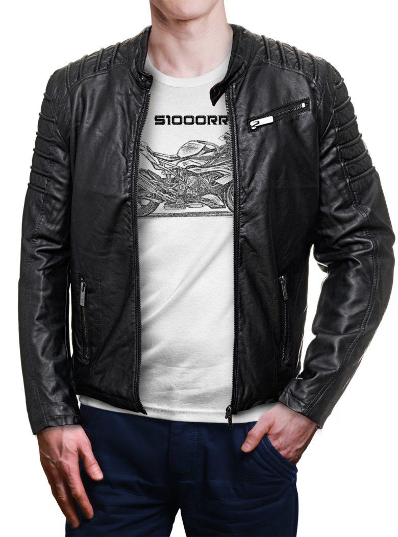 koszulka dla motocyklisty z kurtką