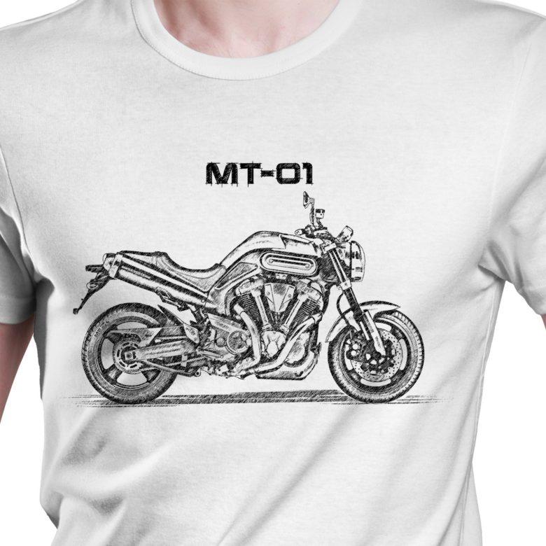 Prezent koszulka z Yamaha MT-01