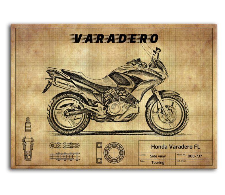 prezent dla motocyklisty plakat z Honda Varadero FL