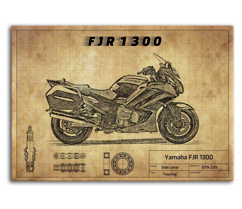 prezent dla motocyklisty plakat z Yamaha FJR 1300
