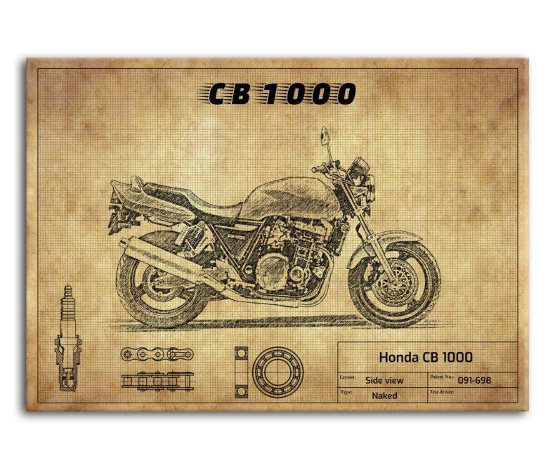 prezent dla motocyklisty plakat z Honda CB 1000