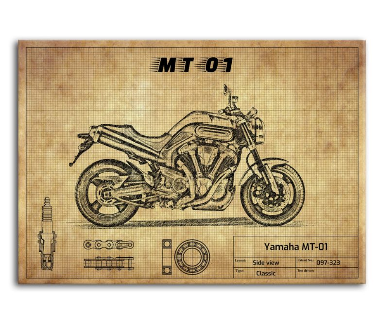 prezent dla motocyklisty plakat z Yamaha MT-01